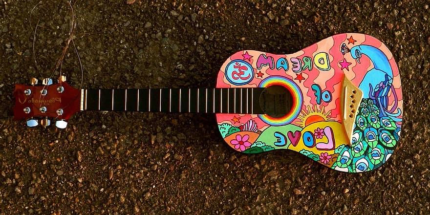 akoestische gitaar verven